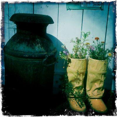 Jug and boots
